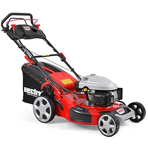 HECHT Benzin-Rasenmäher 5564 SXE Rasenmäher + Elektro-Start Funktion (4,4 kW (6,0 PS), Schnittbreite 56 cm, 70 Liter Fangkorbvolumen, 7-fache Schnitthöhenverstellung 25-75 mm, Radantrieb und Elektro-Start-Funktion)