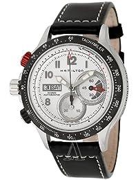 Hamilton H71726313 - Reloj cronógrafo de caballero automático con correa de goma negra (cronómetro) - sumergible a 100 metros