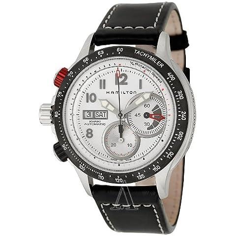 Hamilton H71726313 - Reloj cronógrafo de caballero automático con correa de goma negra (cronómetro) - sumergible a 100