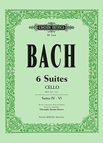 6 Suites Cello: Suites IV - VI par Johann Sebastian Bach,Motatu Steurer, Gheorghe