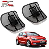 Riderscart Back Rest with Mesh Support for Volkswagen Polo Posture Support & Lumbar Support Pillow, Back Pain Support Cushion, Car Cushion