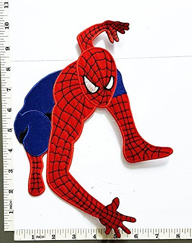 Big Jumbo Grand Huge Spiderman Web Superhero Dessin Anim Film Logo Patch Veste T
