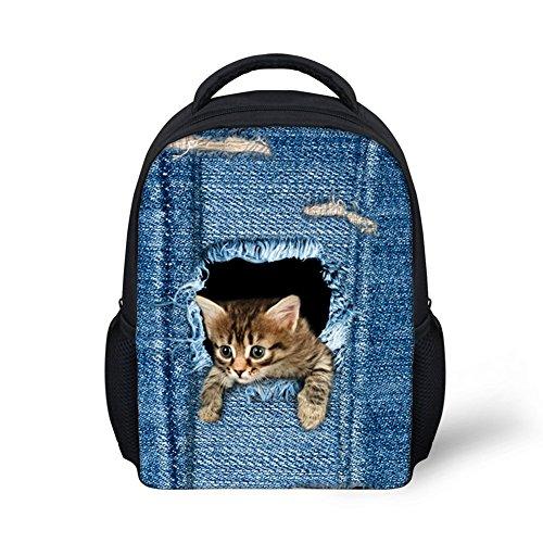 Imagen de dorapocket toddler 3d creative  escolar infantil de animales fashion vaquero cat  multicolor 1 small