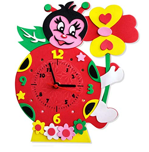 QMMCK Creativo Dibujos Animados Reloj Bricolaje Manual...