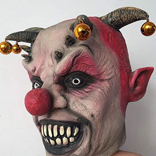 Edelehu Dämonen Mörder Halloween Maske Scary Gruselige Horror Cosplay Kostüm Bandana Latex Scary Kopf Zombie Maske