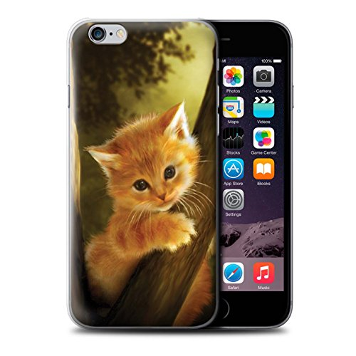 Officiel Elena Dudina Coque / Etui pour Apple iPhone 6S / Dans mes Bras/Sûr Design / Les Animaux Collection Le Brave/Chaton