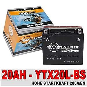 Moto batterie aGM gEL 20 ah yTX20L-bS-harley davidson fLST 51821 yamaha qUAD xL