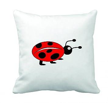 Kissenbezug 40x40 Cm Marienkäfer Kinder Tier Insekt Rot