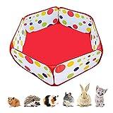 Amakunft Portable Small Animals Playpen, Outdoor/Indoor Pop Open Pet Exercise Fence, Guinea Pig