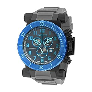 Invicta Men's Coalition Forces 51mm Grey Silicone Band Quartz Watch 18731