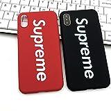 Supreme iPhone X Housse Cover Étui Coque de Protection Michael Jordan Chicago Bulls Supreme (rouge)