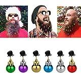 Gaddrt Christmas Bart-Clip1 STÜCK Weihnachten Bart Hängende Ornamente Weihnachtsmann Dekor Weihnachtsmann Bart Clip (Grün)