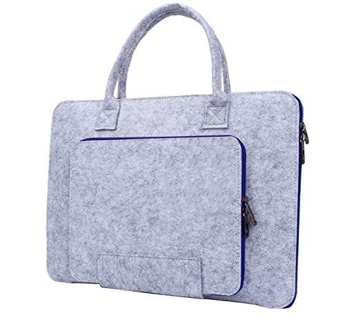 14 Zoll Laptop Schutzhülle Filz Tasche Hülle Sleeve Case Laptoptasche Notebooktasche Blau (Buch Taschen Laptop)