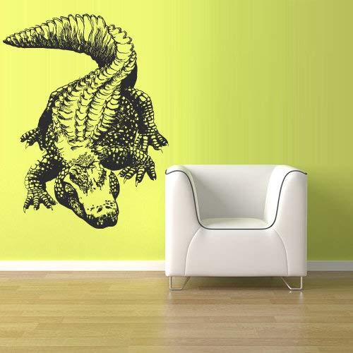 Alligator Aufkleber Croc Dekor Badezimmer Dekorationen Kunst Vinyl Wandgrafiken Home House Boys Girls z1518 ()