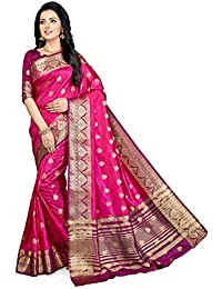 M.S.Retail Silk Saree with Blouse Piece (HM-WAVES-4065_Pink, Magenta_Free)