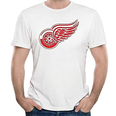 T&Tat Men's Detroit Red Wings Ice Hockey Team Short Sleeve T-shirt Medium