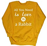 HippoWarehouse All You Need is Love and a Rabbit kids unisex jumper sweatshirt pullover