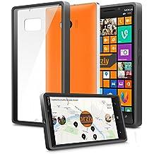 Orzly® - LUMIA 930 - Caja DURO Fusión Gel Funda NEGRO (Alias: Fusion Gel Hard Case BLACK Phone Cover Skin) para NOKIA / WINDOWS LUMIA 930 SmartPhone / Teléfono Móvil - 2014 Modelo
