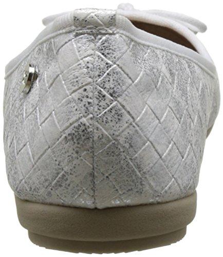 XTI Damen 030603 Ballerinas mit Geschlossener Spitze Weiß (White)