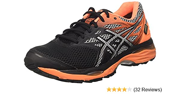 Asics Gel Cumulus 18 GTX blacksilverhot orange (Herren) (T6D3N 9093)