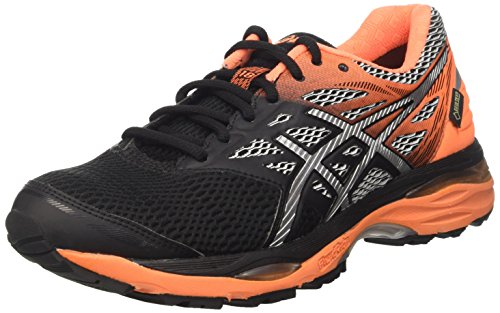 asics-mens-gel-cumulus-18-g-tx-running-shoes-multicolour-black-silver-hot-orange-95-uk
