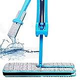 Doppelseitige Nicht Handwäsche Wischmop, WalshK Holzboden Mop Staub Push Mop Home Reinigungswerkzeuge (Blau)