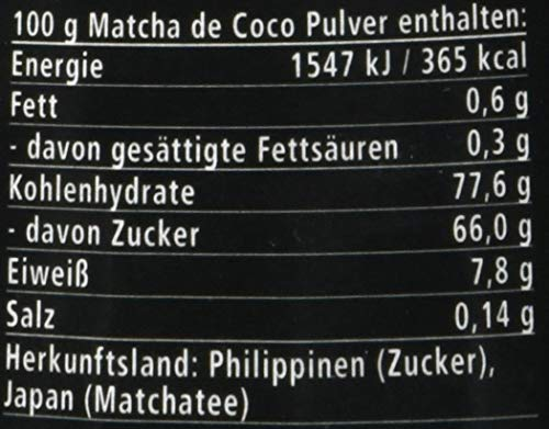 Dr. Goerg Premium Bio-Matcha de Coco, 250 g