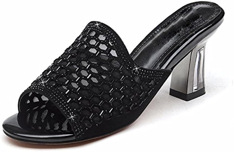 KPHY bello Scarpe da donna Diamond Forte Resistenza Moda Al Tallone Pantofole Parola Drag 6Cm Joker Scarpe Da... | Offerta Speciale  | Uomini/Donna Scarpa