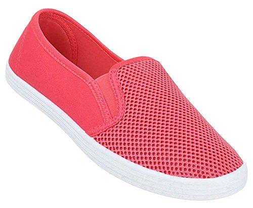 Damen Schuhe Slipper Halbschuhe Moderne Sommerschuhe Freizeitschuhe Coral