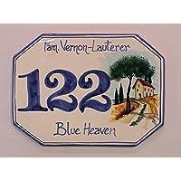 Numeri Civici e Targhe in ceramica PAESAGGIO CON PODERE - ordina qui il tuo numero civico personalizzato