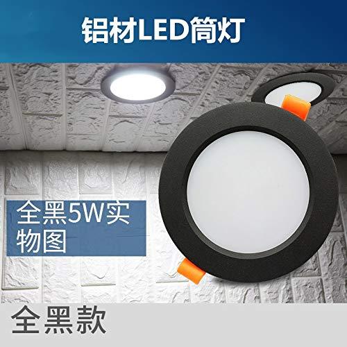 3300-lampe (Embedded Spotlight Aluminium LED Lampe Beleuchtung Strahler, weiße Schale warmweiß (3300K), 3,5 Zoll 7W Öffnung (9-10CM))
