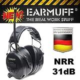 EARMUFF Gehörschutz mit FM Radio und AUX Eingang Gehörschützer