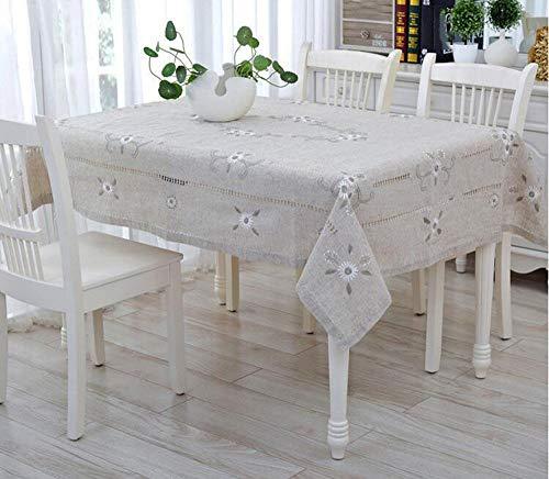 SYT Tablecloths Mantel lino tejido estampado pastoral