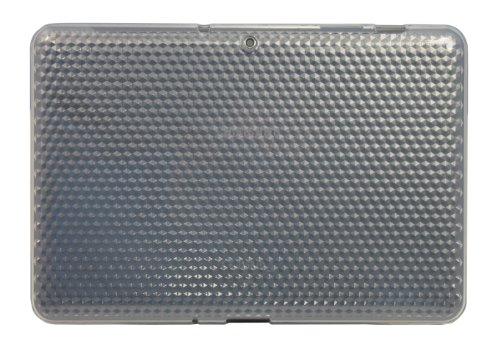 Luxburg® Diamond Design Schutzhülle für Samsung Galaxy Tab 2 10.1 GT-P5100 in Farbe Bergkristall Weiß, Hülle Case aus TPU Silikon