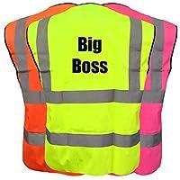 Big Boss Hi Viz Vis Kids Vest Joke Custom Waistcoat Child Plus a Brook Hi Vis UK Code for your next order