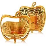 Plegable cesta de fruta de bambú–en forma de manzana