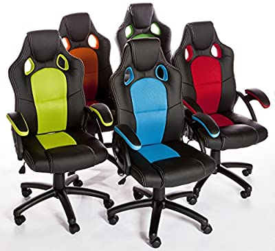 Charles Jacobs 2016 Executive Racing Style CHAIR Luxury Office High Back Support with Tilt Lock Mechanism produced by Charles Jacobs - quick delivery from UK.