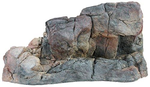 Acuami afloramientos rocosos para terrarios - Meseta de Pared para Reptiles y Anfibios - Accesorios y decoración en Aspecto de Piedra - L