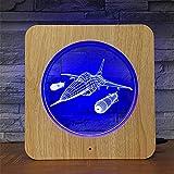 Proiettore per lampada a stella, lampada per camera da letto romantica, luce per cornici fotografiche in 3D a forma di grana di legno