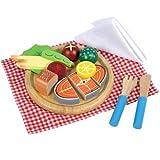 Santoys st709Holz Play Lebensmittel Fisch Abendessen Set