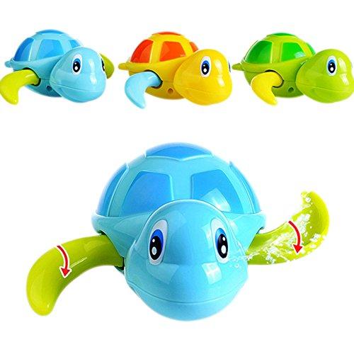 Rokoo 3 Stück Float Pool Wind Up Baby Bad Spielzeug Schwimmen Badewanne Badewanne Nette Schildkröte für Kinder Jungen Mädchen (Baby-badewanne Mädchen)