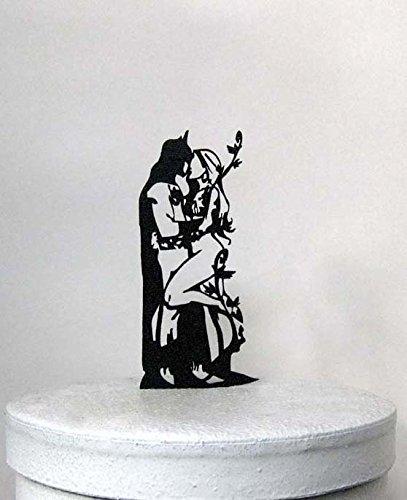 Hochzeitstorte Topper - Batman und Poison Ivy cake topper