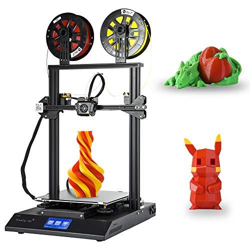 [Creality 3D Tienda directa] impresora 3D CR-X con doble extrusora Pantalla táctil de doble color Diseño completo de metal integrado y filamento PLA de 2kg