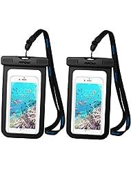 【Pack de 2 Pochette étanche portable】 Mpow téléphone Etui étanche Housse étanche Housse telephone universelle (6'') Imperméable (profondeur de 10m). Sac étanche protection contre la submersion, pochette iPhone 7 SE, 6/ 6s/6 Plus, Samsung S6 S5 S7 S7 edge Sony, HTC, Huawei, Wiko, Lecteurs MP3 MP4 et d'autres appareils de taille égale ou inférieure à 6''
