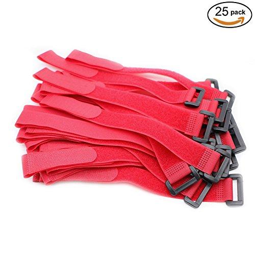 Pasow Fascette organizza-cavi regolabili, chiusura con fibbia in plastica, misure: 300mm x 25mm, lunghezza: 30 (25 Di Mm)