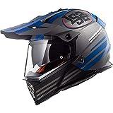 LS2 MX436 Pioneer Quarterback Motocross Motorradhelm DVS MX Helm Matt Titan L(59-60cm)