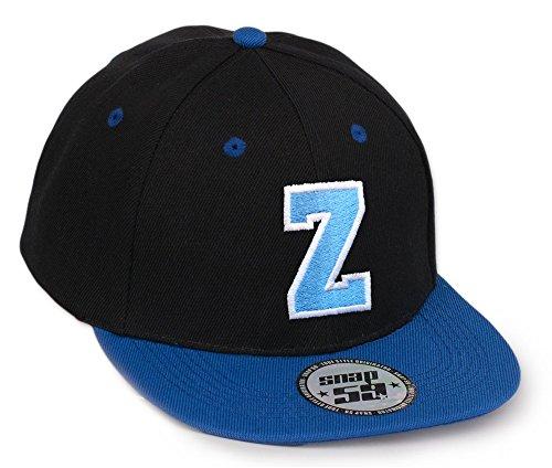 Bonnet Chapeau Casquette Snapback 59 Baseball Cap Alphabet letters A-Z Snap Back (Z)