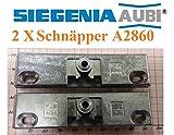 2 X SI Siegenia Balkontür Terrassentür Schnäpper A2860 / Schnäpper 2860 Türschnäpper + Hülse. 2 Stücke für den besten Preis!!!