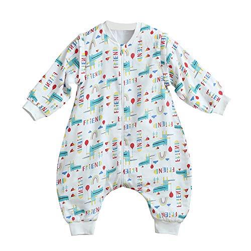 Jungen/Mädchen Schlafsack Kinderschlafsack Langarm Schlafsack Baumwolle Schlafanzug mit Bein, Grün Krokodil, 98/104(Label: 80) ()