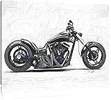 Motorrad grau Carbonoptik Bild auf Leinwand, XXL riesige Bilder fertig gerahmt mit Keilrahmen, Kunstdruck auf Wandbild mit Rahmen, guenstiger als Gemaelde oder Bild, kein Poster oder Plakat, Format:100x70 cm